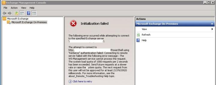 EMC Initialization Failed